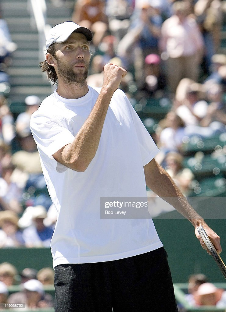 <a gi-track='captionPersonalityLinkClicked' href=/galleries/search?phrase=Ivo+Karlovic&family=editorial&specificpeople=605320 ng-click='$event.stopPropagation()'>Ivo Karlovic</a> of Croatia against <a gi-track='captionPersonalityLinkClicked' href=/galleries/search?phrase=Mariano+Zabaleta&family=editorial&specificpeople=213229 ng-click='$event.stopPropagation()'>Mariano Zabaleta</a> of Argentina during the finals of the U.S. Men's Clay Court Championships in Houston, Texas on April 15, 2007. Karlovic defeated Zabaleta 6-4, 6-1.