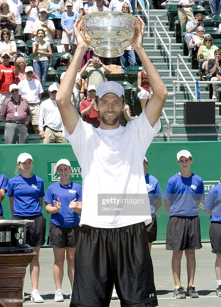 <a gi-track='captionPersonalityLinkClicked' href=/galleries/search?phrase=Ivo+Karlovic&family=editorial&specificpeople=605320 ng-click='$event.stopPropagation()'>Ivo Karlovic</a> of Croatia poses with the trophy after beating <a gi-track='captionPersonalityLinkClicked' href=/galleries/search?phrase=Mariano+Zabaleta&family=editorial&specificpeople=213229 ng-click='$event.stopPropagation()'>Mariano Zabaleta</a> of Argentina during the finals of the U.S. Men's Clay Court Championships in Houston, Texas on April 15, 2007. Karlovic defeated Zabaleta 6-4, 6-1.