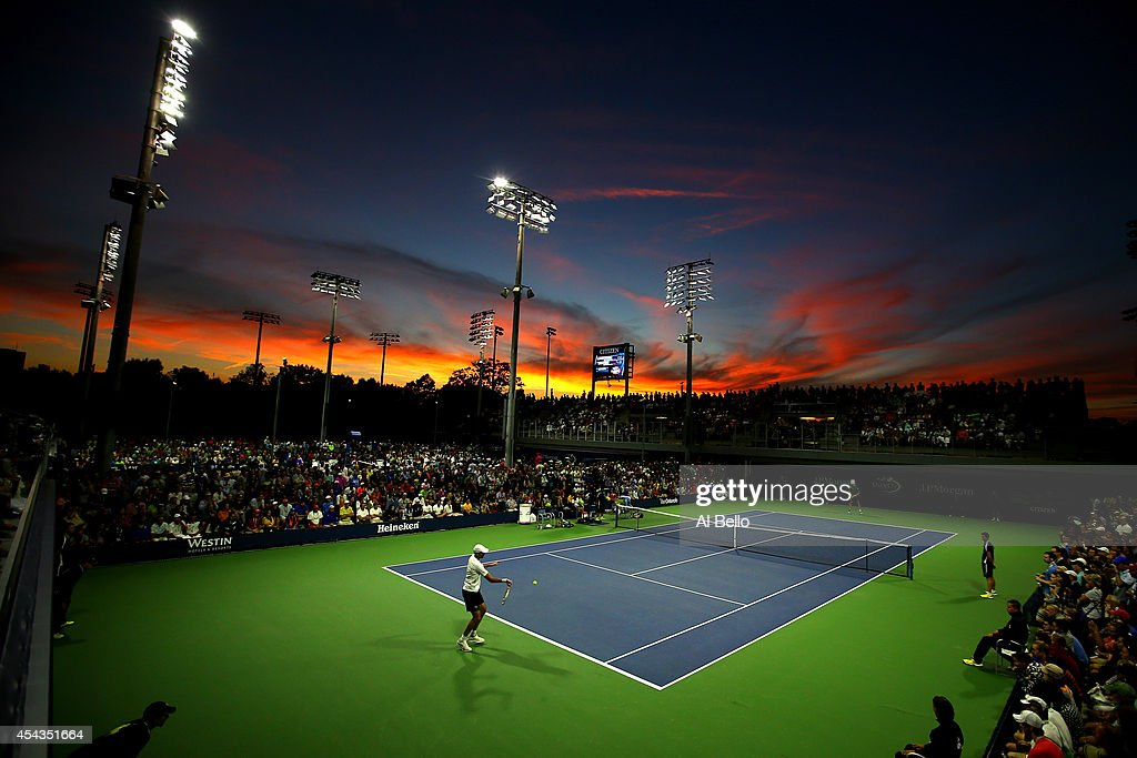<a gi-track='captionPersonalityLinkClicked' href=/galleries/search?phrase=Ivo+Karlovic&family=editorial&specificpeople=605320 ng-click='$event.stopPropagation()'>Ivo Karlovic</a> of Croatia returns a shot to Marcel Granollers of Spain during their men's singles second round match on Day Five of the 2014 US Open at the USTA Billie Jean King National Tennis Center on August 29, 2014 in the Flushing neighborhood of the Queens borough of New York City.