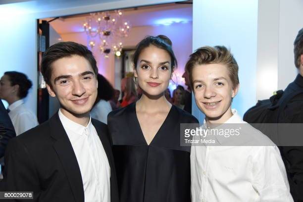Ivo Kortlang Luise Befort and Nick Julius Schuck attend the Bertelsmann Summer Party on June 22 2017 in Berlin Germany