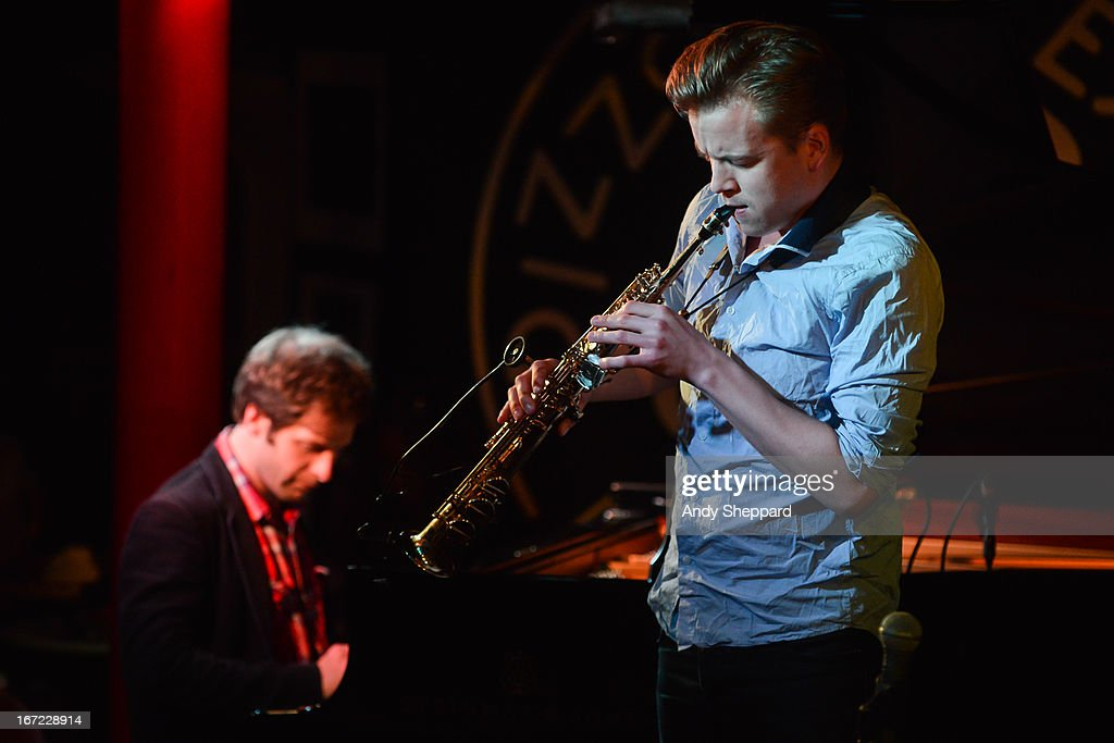 Ivo Neame and Marius Neset perform on stage at Pizza Express Jazz Club on April 22, 2013 in London, England.