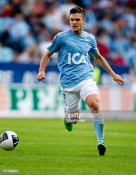Ivo Pekalski of Malmo FF in action during the Allsvenskan League between Malmo FF and AIK Solna at the Swedbank Stadion on September 25 2011in...