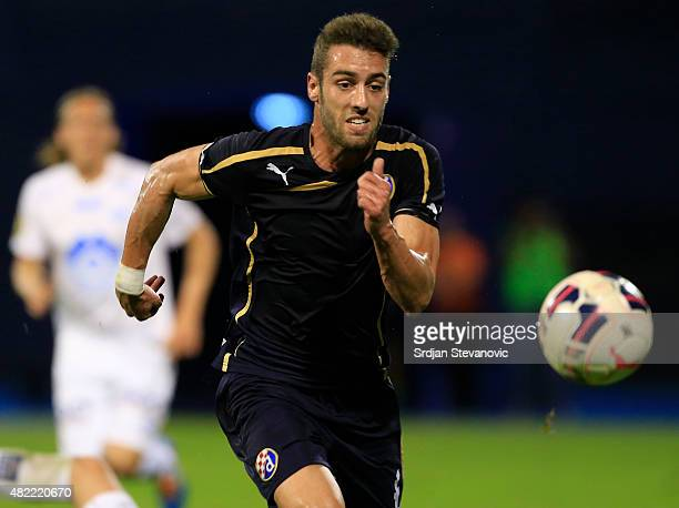 Ivo Pinto of FC Dinamo Zagreb in action during the UEFA Champions League Third Qualifying Round 1st Leg match between FC Dinamo Zagreb and FC Molde...