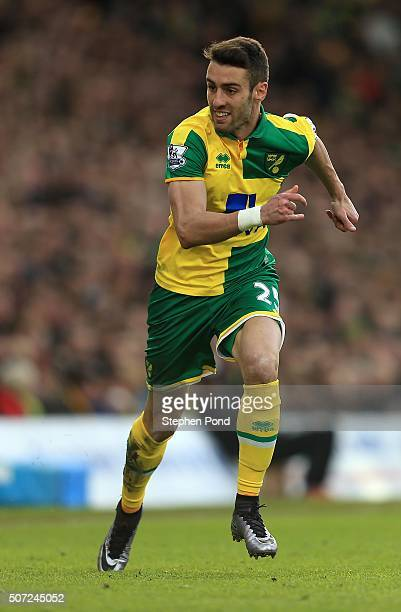 Ivo Pinto of Norwich City during the Barclays Premier League match between Norwich City and Liverpool at Carrow Road stadium on January 23 2016 in...