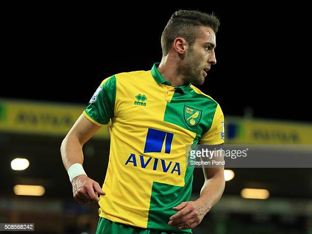 Ivo Pinto of Norwich City during the Barclays Premier League match between Norwich City and Tottenham Hotspur at Carrow Road Stadium on February 2...