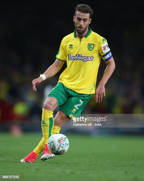 Ivo Pinto of Norwich City during the Carabao Cup Fourth Round match between Arsenal and Norwich City at Emirates Stadium on October 24 2017 in London...