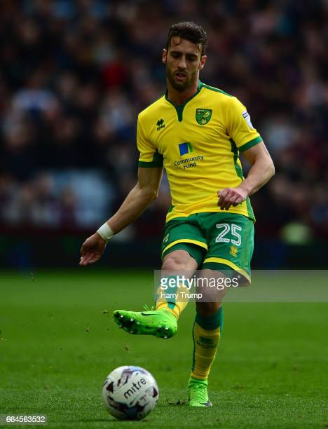 Ivo Pinto of Norwich City during the Sky Bet Championship match between Aston Villa and Norwich City at Villa Park on April 1 2017 in Birmingham...