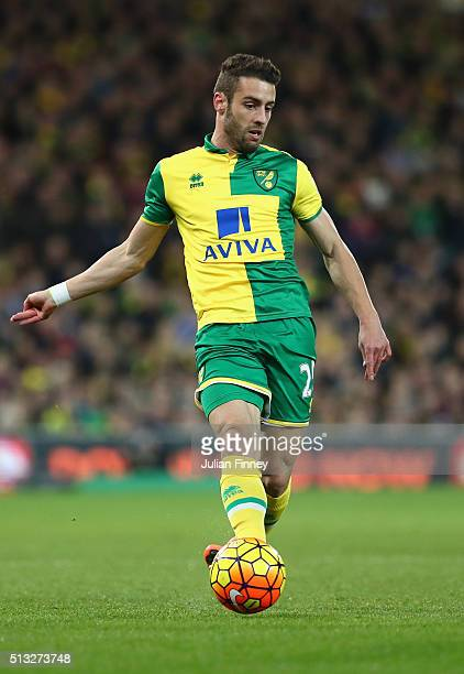 Ivo Pinto of Norwich in action during the Barclays Premier League match between Norwich City and Chelsea at Carrow Road on March 1 2016 in Norwich...