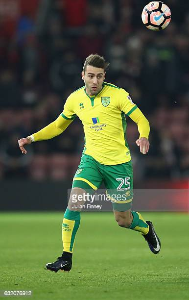 Ivo Pinto of Norwich in action during The Emirates FA Cup Third Round Replay match between Southampton and Norwich City at St Mary's Stadium on...