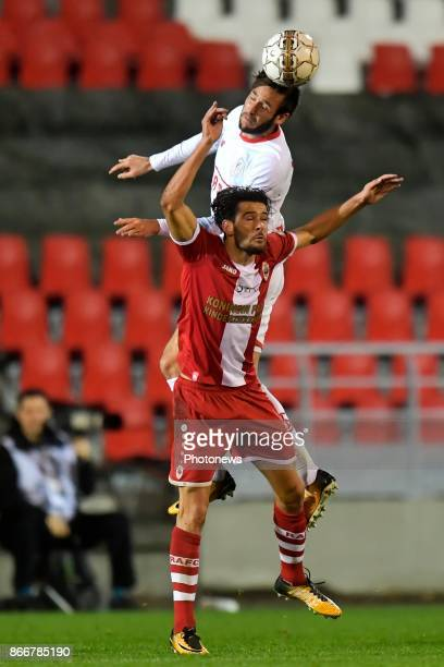 Ivo Rodrigues forward of Antwerp FC battles for the ball with Duje Cop forward of Standard Liege during the Jupiler Pro League match between Royal...