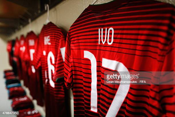 Ivo Rodrigues of Portugal shirt hangs in the change room prior to the FIFA U20 World Cup New Zealand 2015 Round of 16 match between Portugal and New...