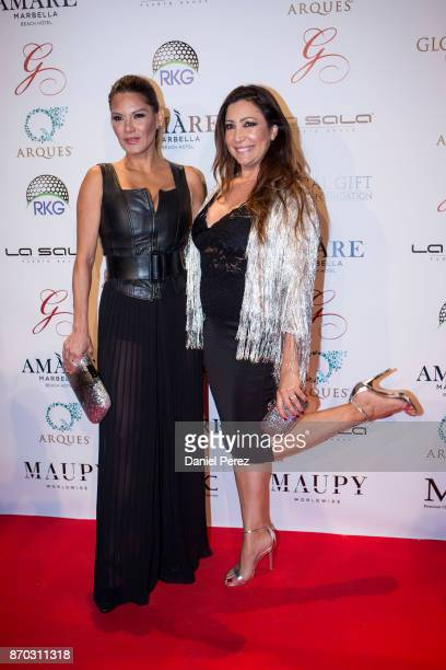 Ivonne Reyes and Maria Bravo attend at the 2nd Annual Global Gift Ronan Keating Golf Tournament Dinner and Concert on November 11 2017 in Marbella...