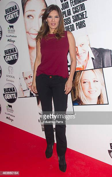 Ivonne Reyes attends 'Buena Gente' premiere at Rialto theatre on February 19 2015 in Madrid Spain