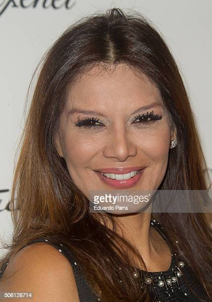 Ivonne Reyes attends Carlos Marin concert photocall at Compac theatre on January 21 2016 in Madrid Spain
