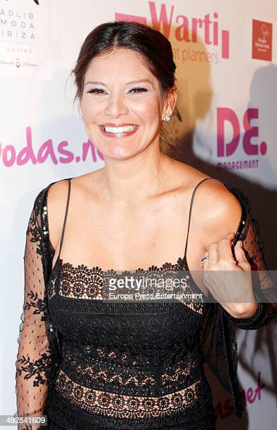 Ivonne Reyes attends the presentation of Moda Adlib during 'Costura Espana' Fashion Show on May 20 2014 in Madrid Spain