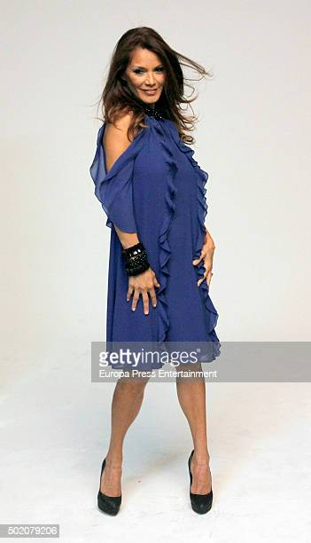 Ivonne Reyes poses for a photo session on December 1 2015 in Madrid Spain