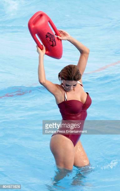 Ivonne Reyes poses on the Warner Park Beach on June 22 2017 in Madrid Spain
