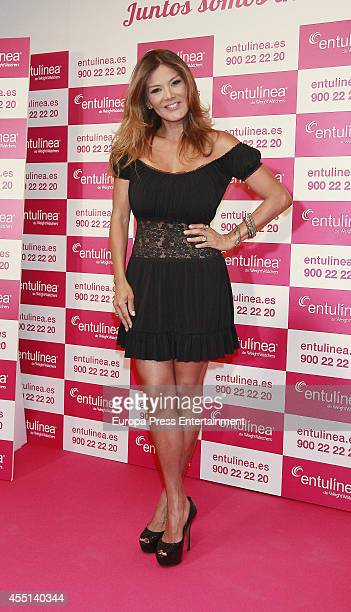 Ivonne Reyes presents Entulinea by Weight Watchers on September 9 2014 in Madrid Spain