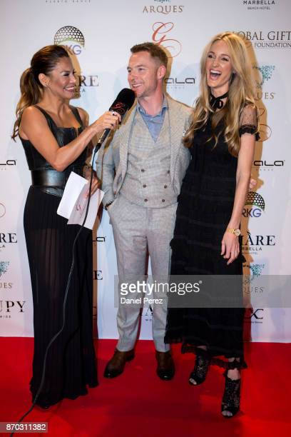 Ivonne Reyes Ronan Keating and Storm Keating attend at the 2nd Annual Global Gift Ronan Keating Golf Tournament Dinner and Concert on November 11...