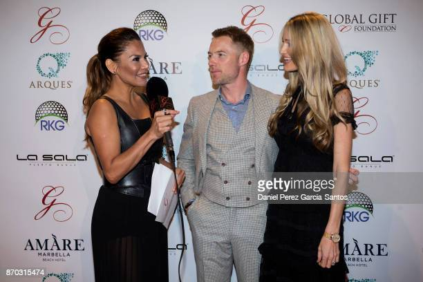 Ivonne Reyes Ronan Keating and Storm Keating attend at the 2nd Annual Global Gift Ronan Keating Golf Tournament Dinner and Concert on November 04...