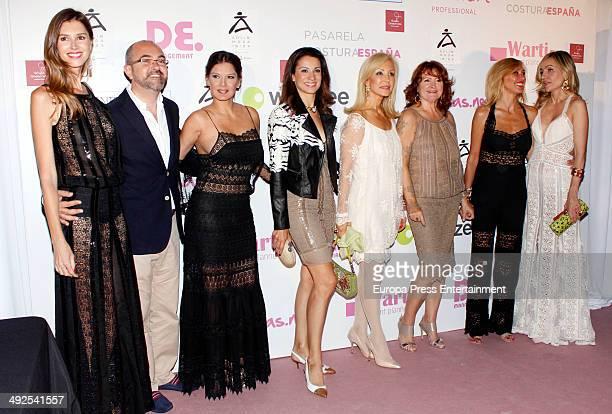 Ivonne Reyes Silvia Jato Carmen Lomana Marta Robles and Clara Courel attend the presentation of Moda Adlib during 'Costura Espana' Fashion Show on...