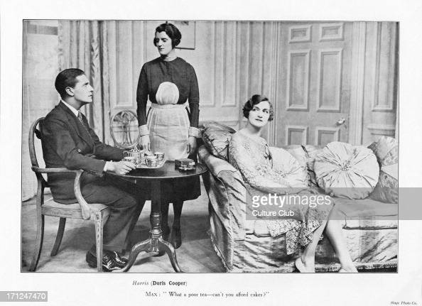 Ivor Novello as 'Max Clement' Doris Cooper as 'Harris' Lily Elsie as 'Rosine Brown' in the play 'The Truth Game' Performed at the Globe Theatre...
