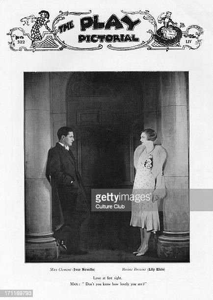 Ivor Novello as 'Max Clement' Lily Elsie as 'Rosine Brown' in the play 'The Truth Game' Performed at the Globe Theatre London October 1928 Caption...