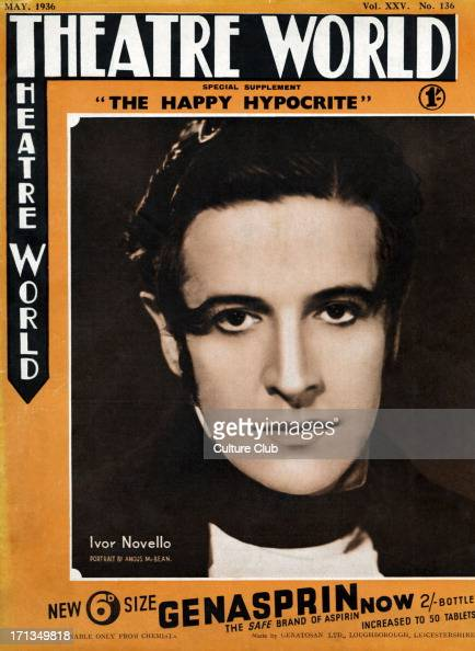 Ivor Novello portrait of the Welsh singer actor as 'Lord George Hell' in the play 'The Happy Hypocrite' performed at His Majesty's Theatre April 1936...