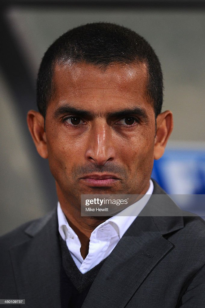 Ivory Coast coach Sabri Lamouchi looks on during the FIFA 2014 World Cup Qualifier Play-off Second Leg between Senegal and Ivory Coast at Stade Mohammed V on November 16, 2013 in Casablanca, Morocco.