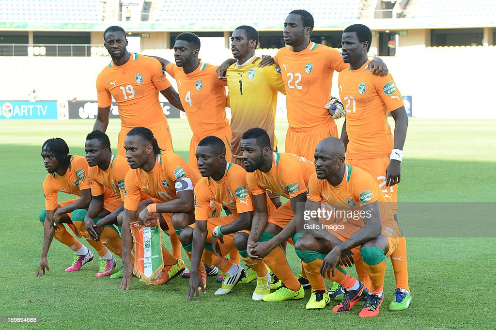 Ivory Coast during the 2013 Orange African Cup of Nations match between Ivory Coast and Togo from Royal Bafokeng Stadium on January 22, 2012 in Rustenburg, South Africa.
