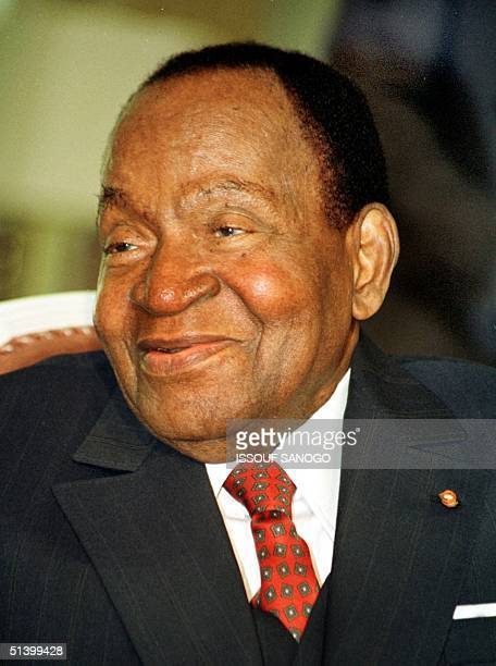 Ivory coast President Felix HouphouetBoigny poses for the photographer in Abidjan 1991 Born in 1905 in Yamoussoukro he was first president of Ivory...