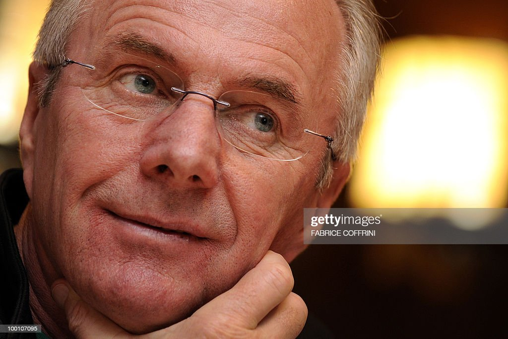 Ivory Coast team coach Sven-Goran Eriksson of Sweden gestures during a press conference on May 20, 2010 in Montreux, Switzerland, ahead of the FIFA World Cup 2010 in South Africa. The 62-year-old Swede recently put in charge of Didier Drogba-skippered Ivory Coast must face both Brazil and Portugal during the first round next month in what is widely regarded as the toughest of the eight first-round groups in South Africa.