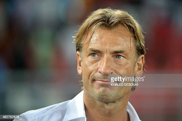 Ivory Coast's coach Herve Renard attends the 2015 African Cup of Nations semifinal football match between Democratic Republic of the Congo and Ivory...
