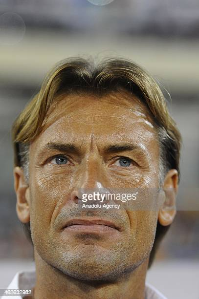 Ivory Coast's head coach Herve Renard is seen during the 2015 African Cup of Nations quarter final match between Ivory Coast and Algeria at Nuevo...