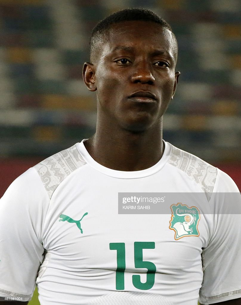 Ivory Coast's Max-Alain Gradel stands on the pitch before the preparatory friendly football match Sweden versus Ivory Coast ahead of the African Cup of Nations on January 15, 2015 in Abu Dhabi.