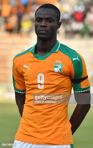 Ivory Coast's national football team player Eric Bailly stands at the 'Stade de la Paix' in Bouake on June 10 2017 during the 2019 African Cup of...