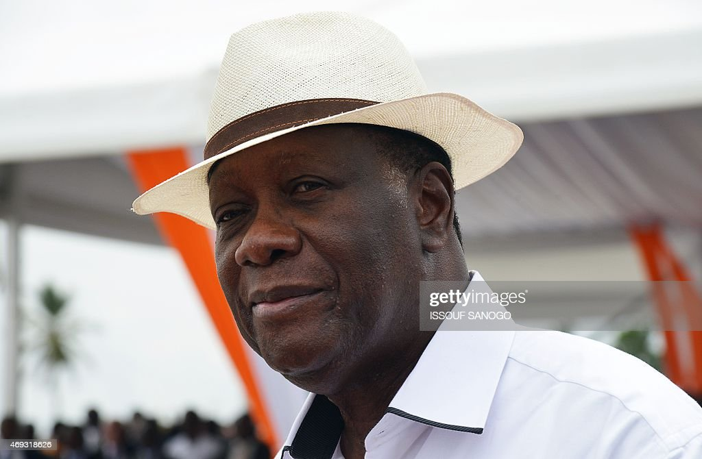 Ivory Coast's President Alassane Ouattara attends the inauguration of the Mohammed VI Expressway a 46 km expressway named after Moroccan King...