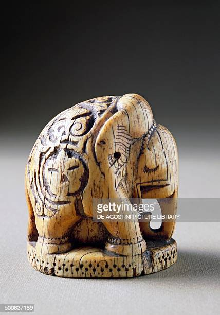 Ivory elephantshaped bishop chess piece Abbasid caliphate Iraq 9th10th century Florence Museo Nazionale Del Bargello