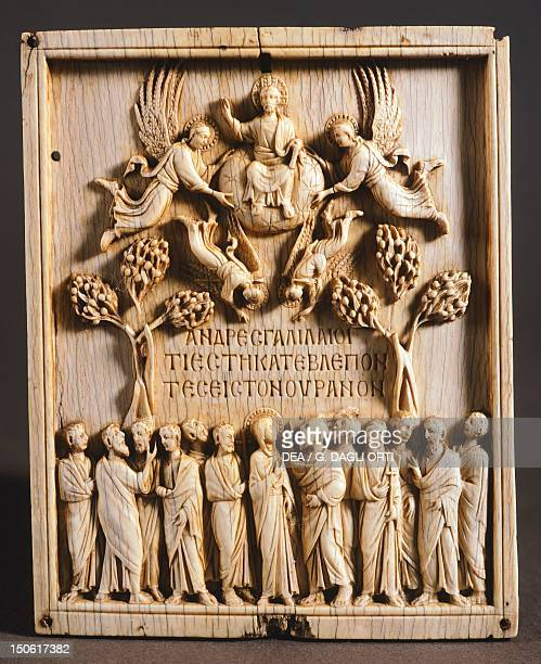 Ivory panel depicting the Ascension of Christ Byzantine Civilization 10th Century