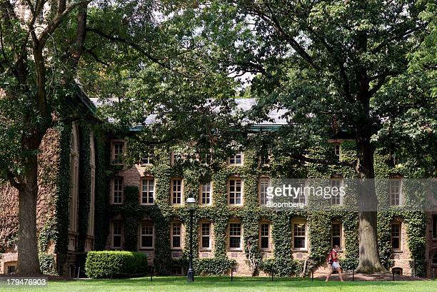 Ivy covers the walls of a building on the Princeton University campus in Princeton New Jersey US on Friday Aug 30 2013 Residents in Princeton New...