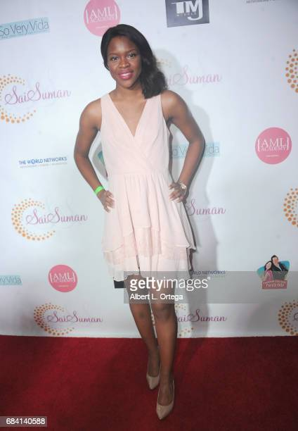 Ivy Ejam at Sai Suman's Official Hollywood Runway Fashion Show held at Sofitel Hotel on April 11 2017 in Los Angeles California