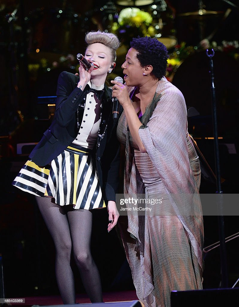 Ivy Levan and Lisa Fischer perform during the 25th Anniversary Rainforest Fund Benefit Concert at Carnegie Hall on April 17, 2014 in New York City.