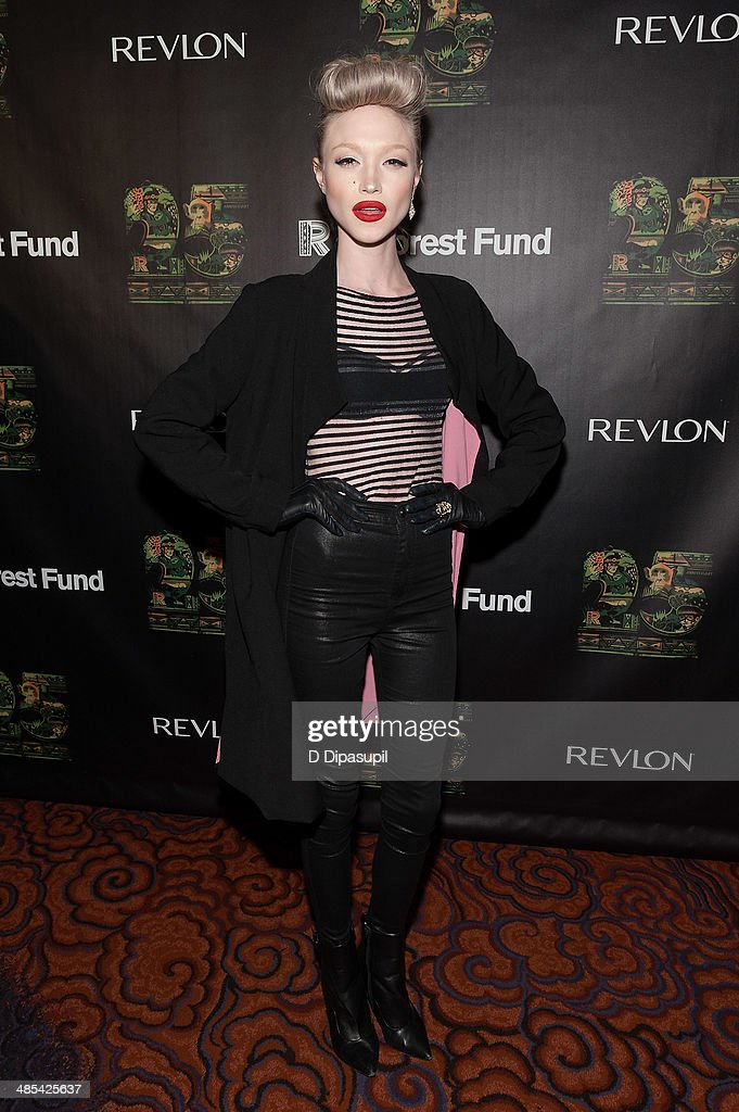 <a gi-track='captionPersonalityLinkClicked' href=/galleries/search?phrase=Ivy+Levan&family=editorial&specificpeople=11089097 ng-click='$event.stopPropagation()'>Ivy Levan</a> attends the after party for the 25th Anniversary concert for the Rainforest Fund at the Mandarin Oriental Hotel on April 17, 2014 in New York City.
