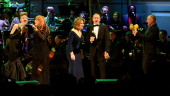 Ivy Levan Patti Scialfa Renee Fleming Kevin Spacey and Sting perform onstage during The 2014 Revlon Concert For The Rainforest Fund at Carnegie Hall...