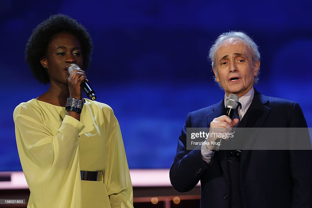 Ivy Quainoo and Jose Carreras perform during the 18th Annual Jose Carreras Gala - Rehearsals on December 13, 2012 in Leipzig, Germany.
