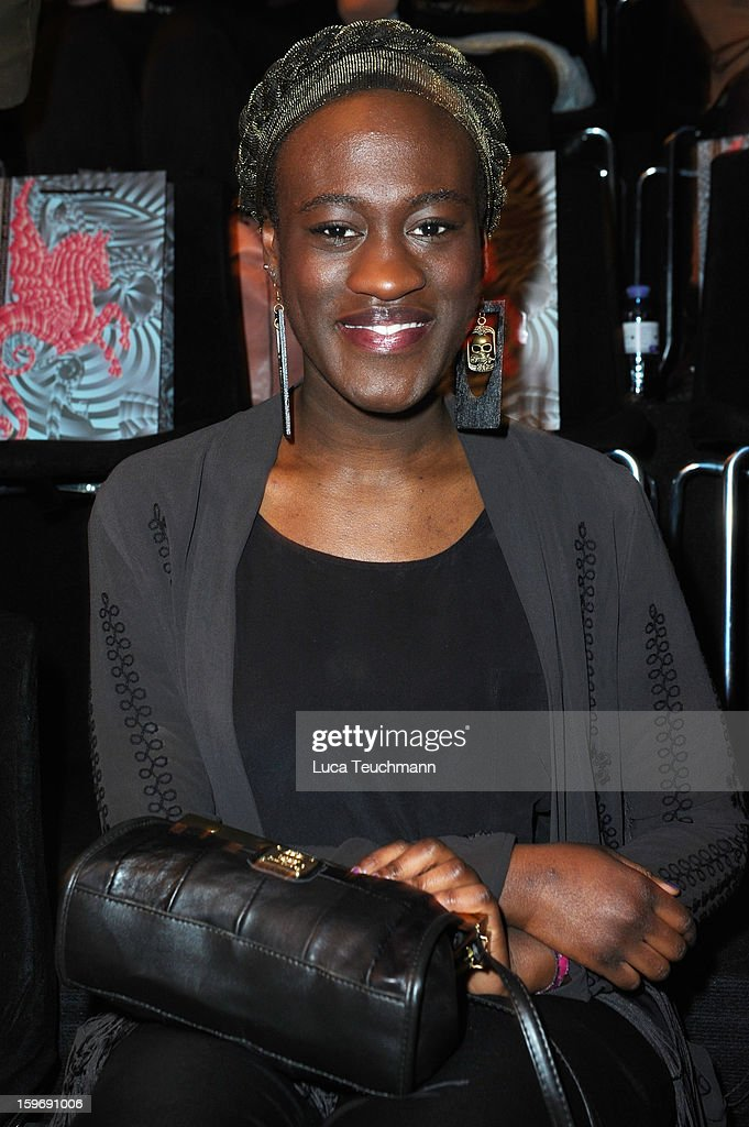 Ivy Quainoo attends Miranda Konstantinidou Autumn/Winter 2013/14 fashion show during Mercedes-Benz Fashion Week Berlin at Brandenburg Gate on January 18, 2013 in Berlin, Germany.