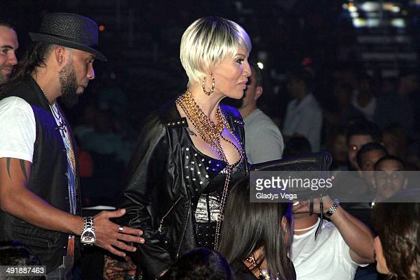 Ivy Queen and Xavier Sanchez attend the concert 'Tempo Freedom' at Coliseo Jose M Agrelot on May 17 2014 in San Juan Puerto Rico
