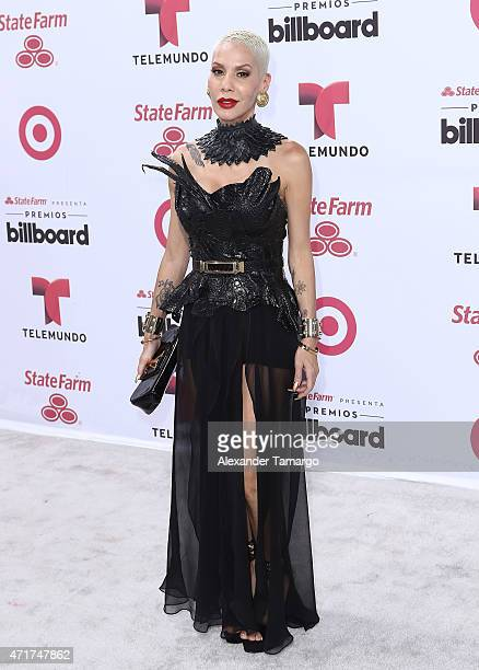 Ivy Queen arrives at 2015 Billboard Latin Music Awards presented by State Farm on Telemundo at Bank United Center on April 30 2015 in Miami Florida