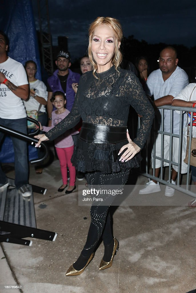 <a gi-track='captionPersonalityLinkClicked' href=/galleries/search?phrase=Ivy+Queen&family=editorial&specificpeople=212826 ng-click='$event.stopPropagation()'>Ivy Queen</a> backstage at the Zolazo concert at Bayfront Park Amphitheater on September 15, 2013 in Miami, Florida.