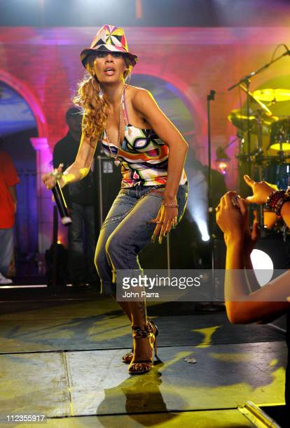 Ivy Queen during Pepsi Concert Featuring La Ley David Bisbal Pitbull Ivy Queen and Enanitos Verdes at Mansion in Miami Flordia United States